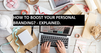 Picture shows tools that boost your personal branding using social media