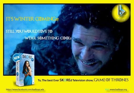 social media campaign with Game-of-Thrones-pun